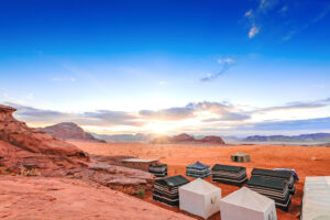 Wadi Rum Tende Campo Tendato Giordania