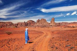 Algeria Tuareg nel deserto
