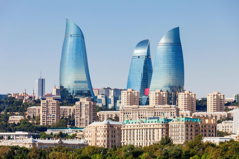 Azerbaijan Baku Flame Tower