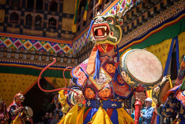 Bhutan Paro Tsechu Festival Maschere