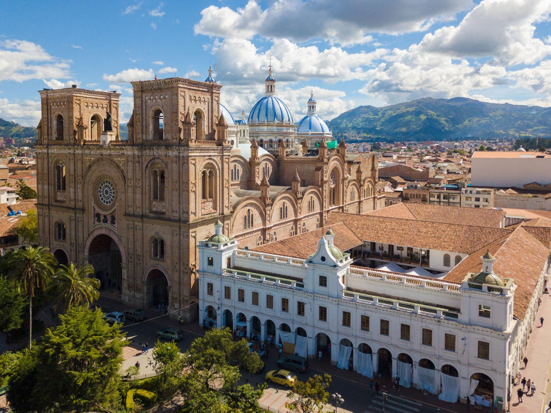 Ecuador, Cuenca Cattedrale dell'Immacolata Concezione vista aerea