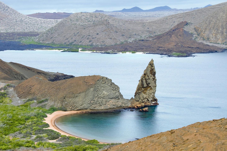 Galapagos, isola Bartolomé la formazione rocciosa Pinnacle Rock