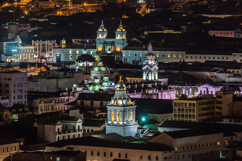 Ecuador, Quito by night