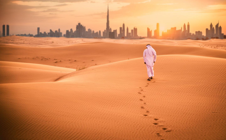 Dubai. il deserto e lo skyline