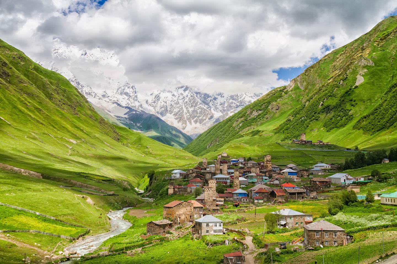 Il villaggio di Ushguli, Svanezia Georgia