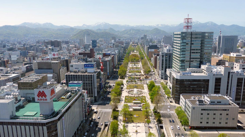 Sapporo, capoluogo di Hokkaido, isola montuosa a nord del Giappone