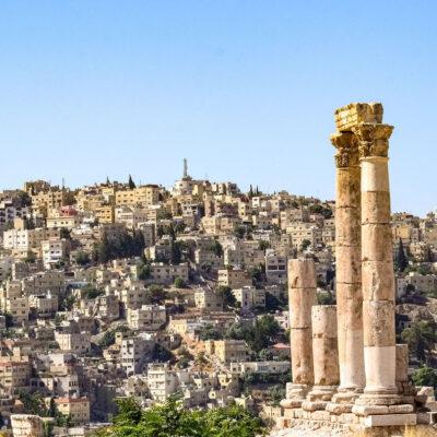 Giordania Il tempio di Ercole e Panorama di Amman dalla cittadella