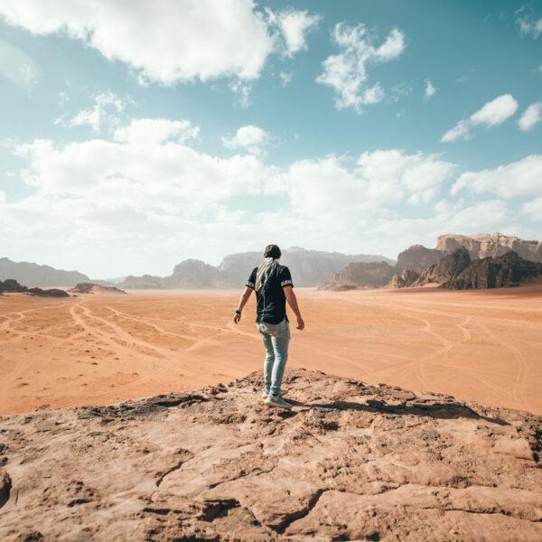 Deserto panorama Wadi Rum Giordania