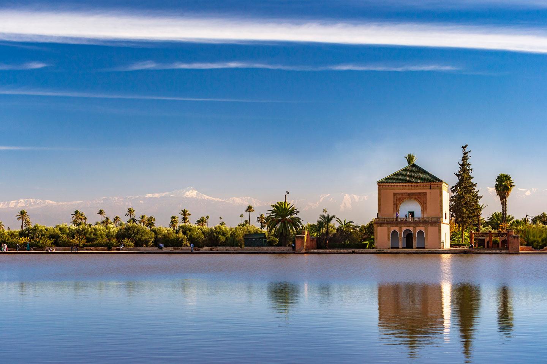 Marocco, i giardini Menara di Marrakech
