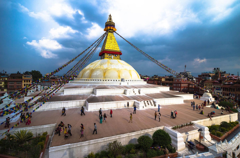 Stupa di Boudhanath o Bodhnath a Kathmandu