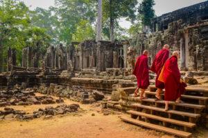 Monaci Angkor Cambogia
