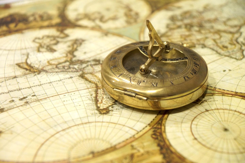 Bussola Mappa del Mondo Antico