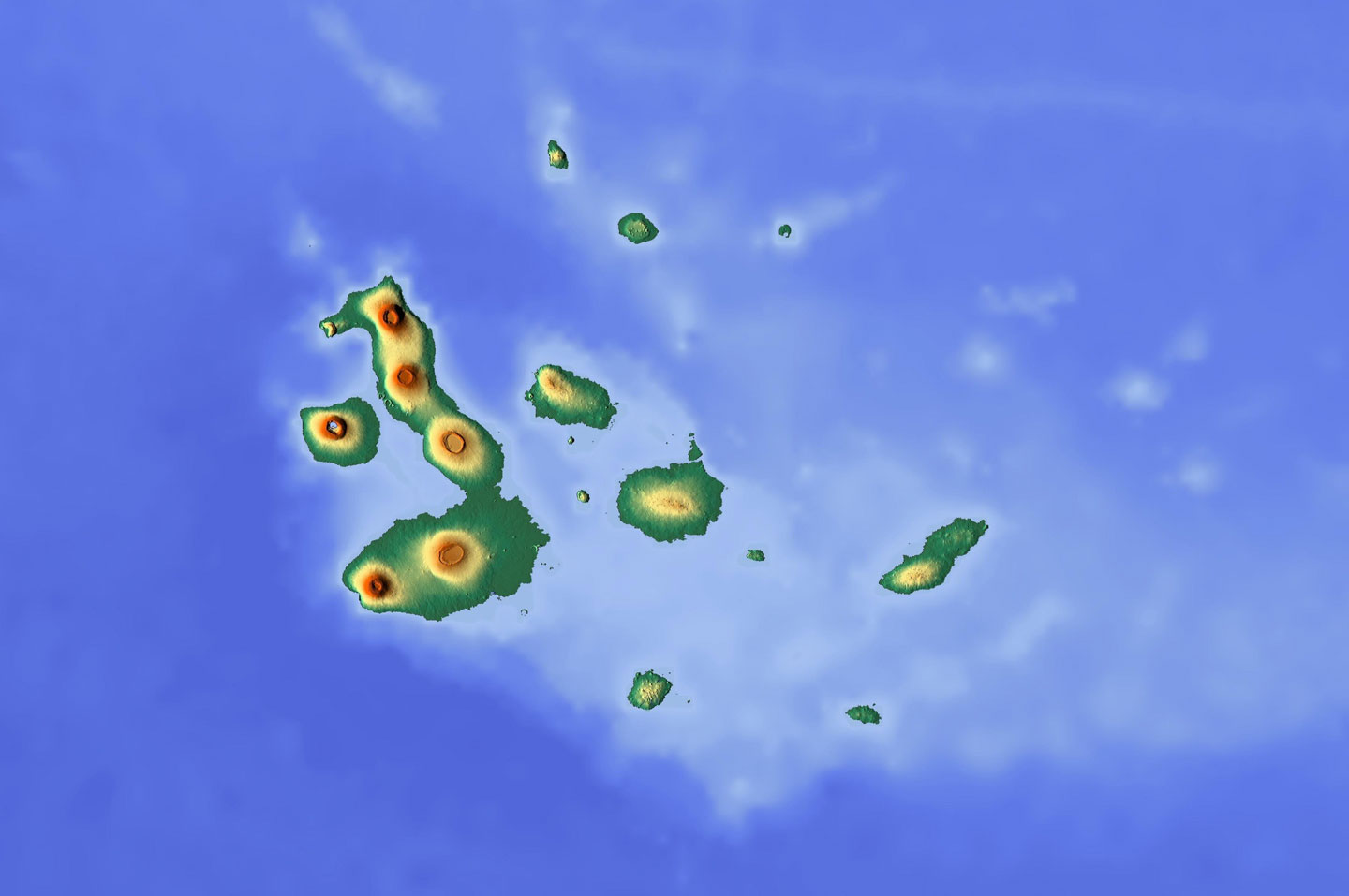 Mappa Isole Galapagos