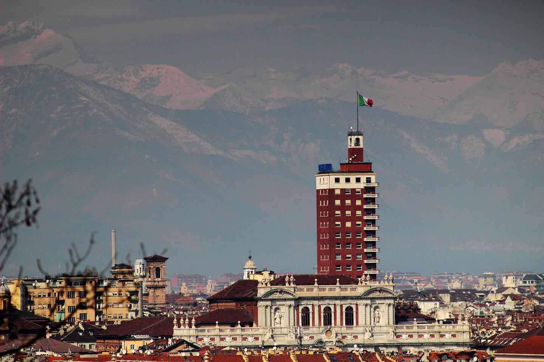 Torino Piazza Castello Torre Littoria