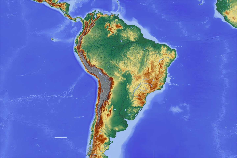 Cartina Fisica America Latina.Mappa Sud America Geografia America Nbts Viaggi